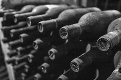 Wine Print Black and White Photography Wine by GCFPhotography