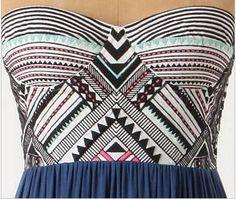geometric pattern bodice