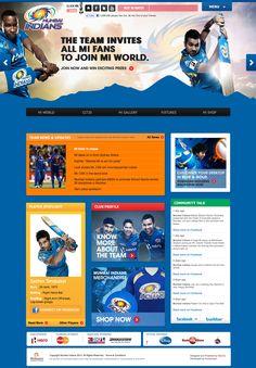 Mumbai Indians Mi World, Mumbai Indians, School Sports, Web Design, Website Designs, Site Design