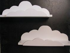 2 Dreamy Deluxe Cloud Shelves  Children's Decor by HappywoodGoods, $58.00  #munire #pinparty #MadeinUSA
