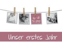 Designbeispiel... eine meiner Kreationen an individualisierten Mami-Baby-Tagebüchern für DaWanda anlässlich der Geburt von Pia Jolene