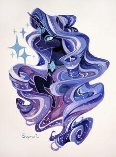 Nightmare Rarity - One of Most Beautiful Nightmare Ponies Dessin My Little Pony, My Little Pony Drawing, Mlp My Little Pony, My Little Pony Friendship, Celestia And Luna, Princess Celestia, Princess Bubblegum, Mlp Rarity, Unicornios Wallpaper