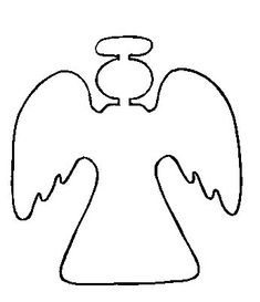 Gallery For > Simple Christmas Angel Outline