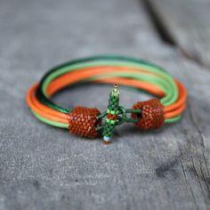 Unisex: braun grün orange Herren Armband Designer von Naryajewelry