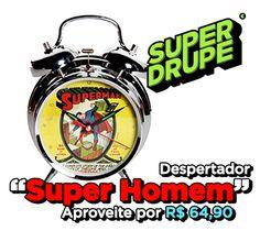 Para acordar com esse frio só com um despertador do Super Homem  www.superdrupe.com.br/relogio-de-mesa-despertador-dc-super-homem.html