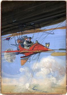 This illustration of the future of air travel by Harry Grant Dart appeared on the cover of All Story magazine, c. 1910.