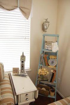 My ladder decor in my living room