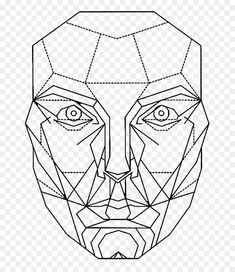 Line Art Tattoo Golden Ratio Ideas Face Symmetry, Symmetry Art, Geometric Face, Geometric Drawing, Art Pop, Fibonacci Sequence Art, Cool Designs To Draw, Drawing The Human Head, Png Transparent