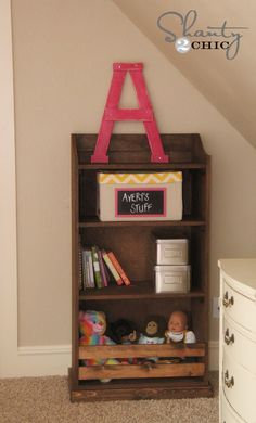 storage bookcase DIY plans from Ana White