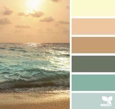 coastal colors paint | Color Escape Coastal Decor Color Palette CereusArt | Paint Colors
