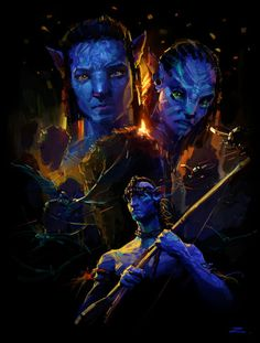 Awesome Art We've Found Around The Net: Avatar, Hellboy, Robocop, X-Men Alien Avatar, Avatar Movie, Avatar Disney, Avatar Films, Stephen Lang, Michelle Rodriguez, Zoe Saldana, Avatar James Cameron, Aliens