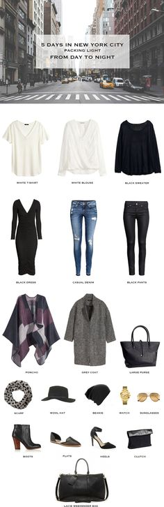 5 Days in New York City Packing List
