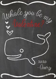 Whale of a Valentine | Community Post: 12 Last-Minute Printable Valentines