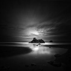 #sonoma coast #blackandwhite #photography by nathan wirth #nature #scenery #beach Sony Alpha 850  Lee Big Stopper Lee .9 Grad #LongExposure - Image #540951