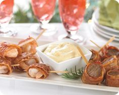 Christmas apoetizer? Surf & Turf Bacon Wrapped Appetizers Schwan's ?