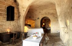 Sextantio Le Grotte della Civita | Matera | Sextantio - A grotto-hotel carved rock - southern italy! lovely!