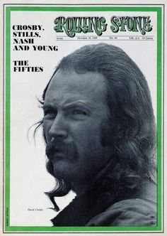 David Crosby on the cover of Rolling Stone
