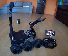 Remote Controlled All Terrain Robot: 10 Steps (with Pictures) Hobby Electronics, Electronics Projects, Drones, Rc Drone, Simple Arduino Projects, Innovation, Mobile Robot, Arduino Programming, Big Robots