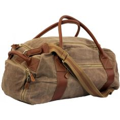 Waxed Canvas Oval Duffel Olive Stout 490 Ed Bauer