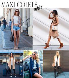 Maxi colete está na moda! Confira dicas de como usar na versão média ou longa.