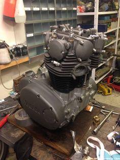Check out Kenneth's engine on this Motorcycle Engine, Cafe Racer Motorcycle, Motorcycle Garage, Xs650 Bobber, Triumph Bobber, Scrambler, Yamaha 650, Yamaha Bikes, Custom Motorcycles
