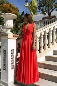Fashion Red Chiffon Backless Long Prom Dresses 2020 Cheap Pleated Prom Party Gowns ,Red Evening Dress - Beauty is Art Prom Party, Party Gowns, Evening Dresses, Prom Dresses, Dress Prom, Chiffon Dresses, Corset Dresses, Dress Long, Red Formal Dresses