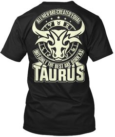 Taurus! T Shirt!! Black T-Shirt Back