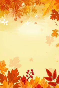 Fashion Fall Foliage New Products Background