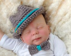Crochet Baby Hats Newborn Crochet Fedora Baby Boy Or Girl Bowler Hat Pattern Crochet Baby Clothes, Newborn Crochet, Crochet Baby Hats, Baby Knitting, Preemie Crochet, Knitting Ideas, Crochet Bebe, Crochet For Boys, Free Crochet