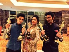 The VIP team: Anirudh, Dhanush and Amala Paul