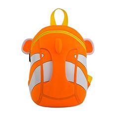 489eae8ab5b7 NOHOO Waterproof School Bags For Girls Boys Cartoon Clown fish Fashion  Printing Backpack Kids Orthopedic School Bag Kids Bag