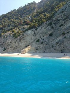 The amazing turquoise waters of Egremnoi beach in Lefkada island ~ Greece