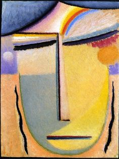 Abstract Head Painting by Alexei Jawlensky | Oil Painting
