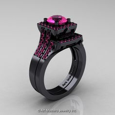 Art Masters French 14K Black Gold 1.0 Carat Pink by artmasters, $3,599.00