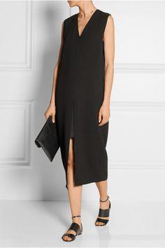 Helmut Lang|Textured-crepe midi dress