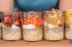 This tasty oatmeal is so easy to make and so satisfying to eat! Mix all of the ingredients before bed and you'll have a delicious breakfast ready and waiting when you wake up. @TheDomesticGeek