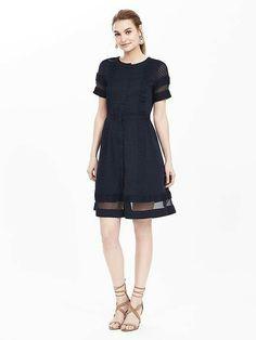 4e7e6ce9ae Banana Republic Geo Lace Sheer-Panel Dress -- must get this!