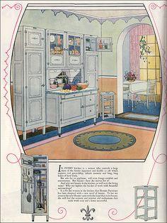 Love Hoosiers! 1925 Hoosier Ad by American Vintage Home, via Flickr