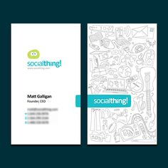 Socialthing Business Card by BlakliteGraphics 10 Cool Business Card Designs for Inspiration