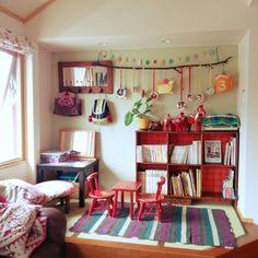 Miponappoさんの、リビング,本棚,ラグ,salut!,ダーラナスホース,DIY♪,定点観測,のお部屋写真
