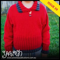 Jenny Occleshaw designed this warm winter jumper with her grandson in mind Winter Jumpers, Knitting Designs, Knit Crochet, Men Sweater, Magazine, Warm, Pullover, Sweaters, Pattern