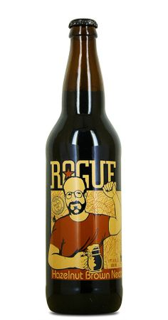 ROUGE HAZELNUT BROWN NECTAR - Tasting Notes: A nutty twist to a traditional European Brown Ale. Dark brown in color with a hazelnut aroma, a rich nutty flavor and a smooth malty finish. Beer Bucket, Brown Bottles, Beer Recipes, Best Beer, Beer Lovers, Wine And Spirits, Rogues, Craft Beer, Brewery