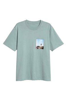 Printed T-shirt - Light petrol - Men | H&M CA