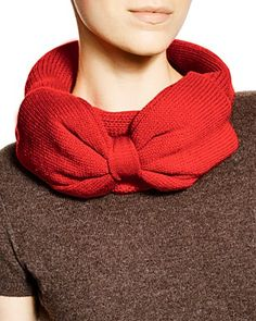 Red Bow Scarf