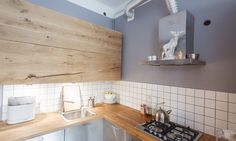 Apartment-Studio of Two Architects with Almost Entire Wooden Furniture of Their Own Make