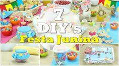 """DIY""""s: festa Junina 7 Ideias fáceis para fazer nas festas caipiras ft. N..."""