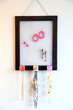 Jewelry organizer that hangs on wall by Murami on Etsy