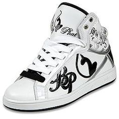 Baby Phat black and white high tops <3