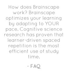 Learn more about Brainscape http://www.brainscape.com/marketing/faq.html