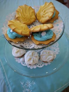 seashell cookies for beach party